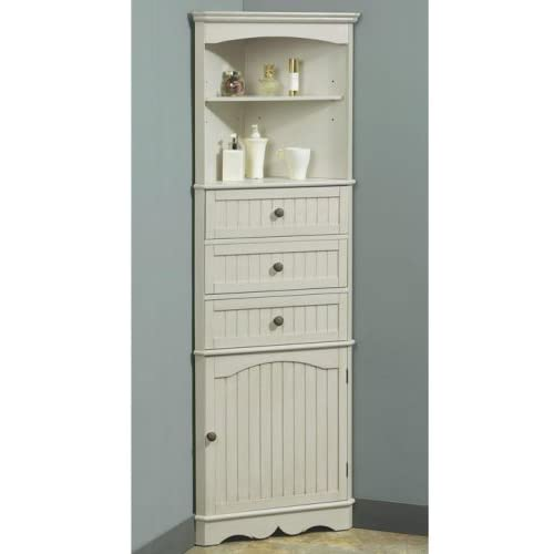 French Country Corner Linen Cabinet