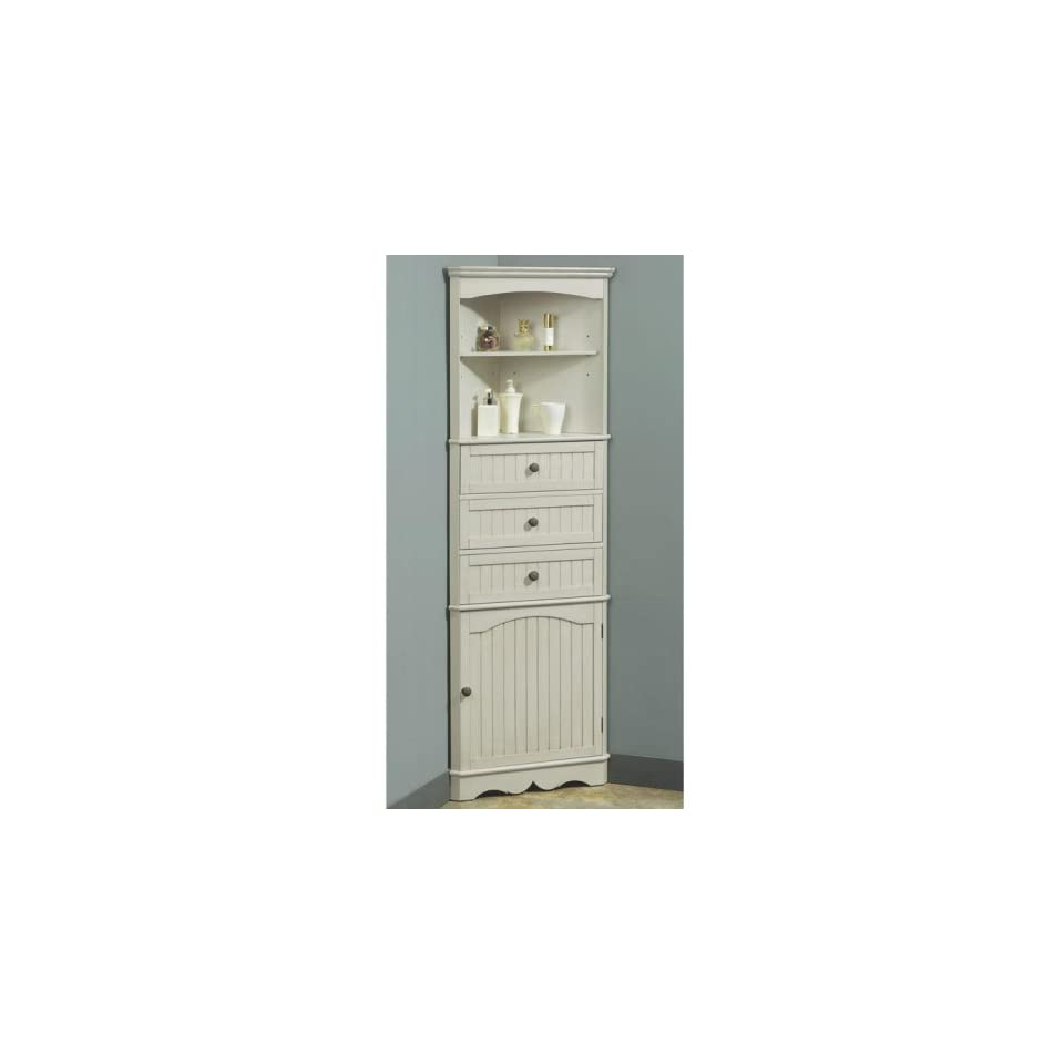 French Country Corner Linen Cabinet Home & Kitchen