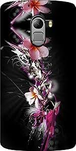 Dot Print Flowers Printed Back Cover For Lenovo Vibe K4 Note