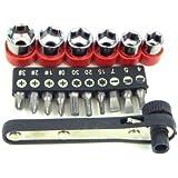 Stalwart 75-2580 Hawk 17-Piece Deluxe Mini-Ratchet Screwdriver Socket Set