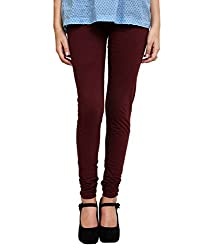 Perfect Collections Women Cotton Legging (Color: Brown, Size: Free Size)