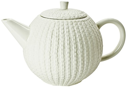 Classic Coffee & Tea Matte Sweater Teapot, 40-Ounce, White