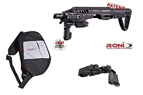 Roni-Cz-8 Caa Accessories Cz Duty 08 To Pistol Chassis + Free Qd Quick Detach Bungee Sling + Robag - Quick Draw Carry Bag For Roni Caa - All Models + Best Security Magnet