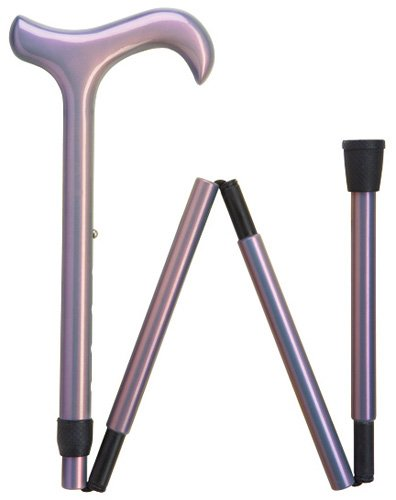 Women's Ultra-Light Weight and Durable Carbon Fiber Folding Cane Color: Lavender