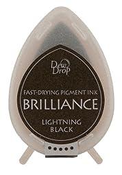 Tsukineko Brilliance Dew Drop Inkpad, Lightning Black