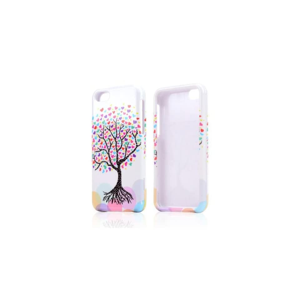 Love Heart Tree On White Hard Plastic Snap On Shell Case Cover For Apple Iphone 5c