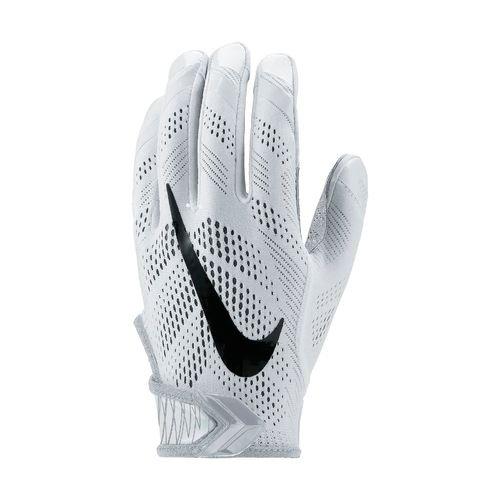 Nike Vapor Knit Football Gloves White/Grey Size M (White Nike Football Gloves compare prices)