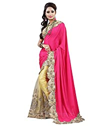 Gajanand Fashion Point Designer Rani Pink Saree