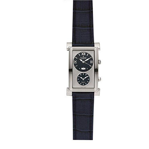 Charmex Cosmopolitan 1897 29x45mm Stainless Steel Case Blue Calfskin Synthetic Sapphire Men's Watch