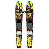 Rave Kid's Rim Trainer Water Skis (Yellow/Black)