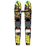 Rave Kid's Rim Trainer Water Skis (Yellow/Black)