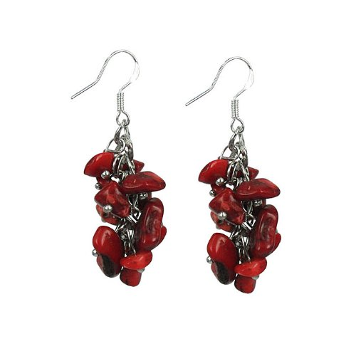 Coral Earrings on sterling silver hooks