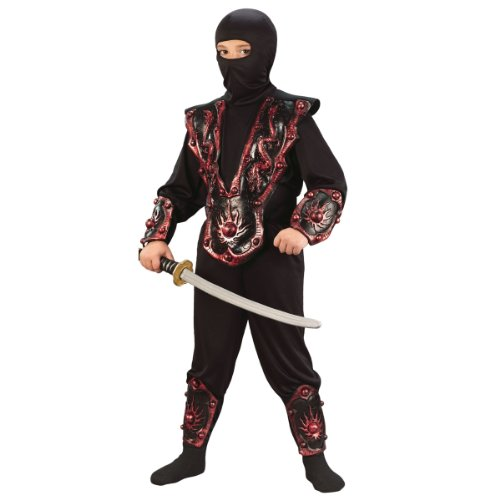 3-D Red Ninja Warrior Assassin Child Costume (Small (4-6)) - 1