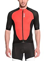 Santini Maillot Ciclismo Fs Zimp2 (Rojo / Negro)