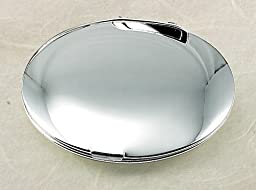 Super Size Round Compact, Silver Plated,