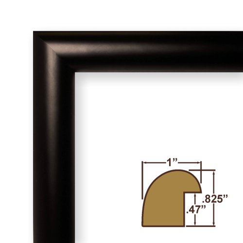 Colorful Picture Poster Frame, Smooth Satin Finish, 1″ Wide, Solid Wood Moulding