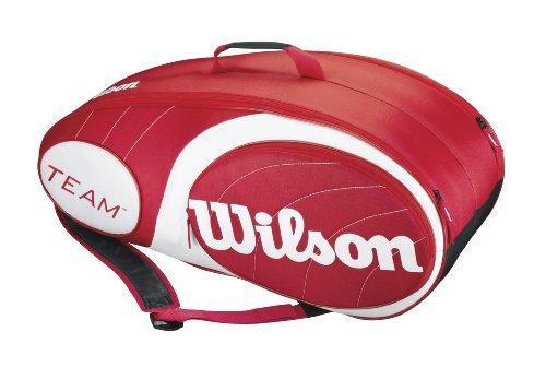 Wilson Team 9 Bag Borsa da Tennis, 76 x 28 x 34.3 cm, Rosso