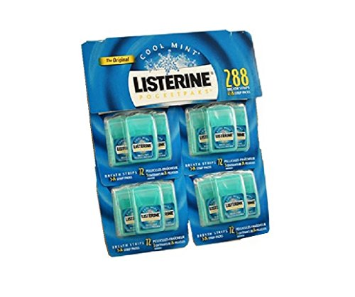 Listerine PocketPaks Oral Care Strips, Cool Mint - 24 ea, Case Of 12