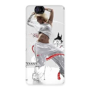 Ajay Enterprises Rock the Dance Back Case Cover for Canvas Knight A350