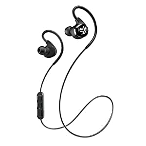 JLab Epic Bluetooth 4.0 Wireless Sports Earbuds with 10 Hour Battery and IPX4 Waterproof Rating, Black