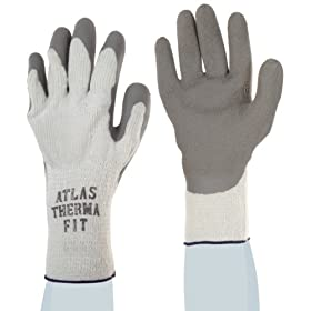 Showa Best 451 Atlas Therma Fit Palm Coating Natural Rubber Glove, 10-Gauge Insulated Seamless Knitted Liner, General Purpose Work, Medium (Pack of 12 Pairs)