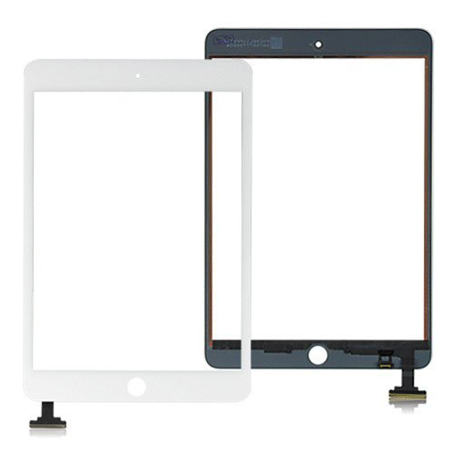 Flylinktech® White Touch Screen Glass Digitizer Front Lens Replacement For iPad Mini+Full Tools Kit (No IC CHIP & Home Button)