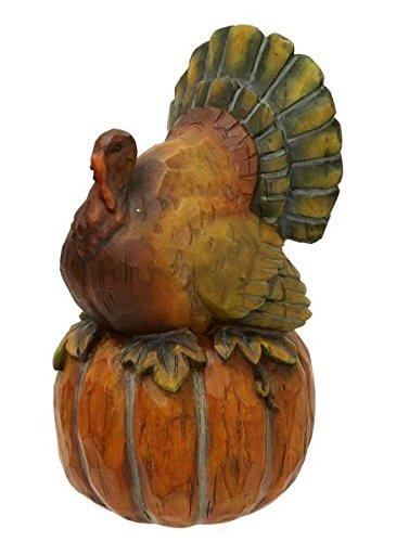 Renaissance 2000 Turkey on Pumpkin Figure, 9-Inch