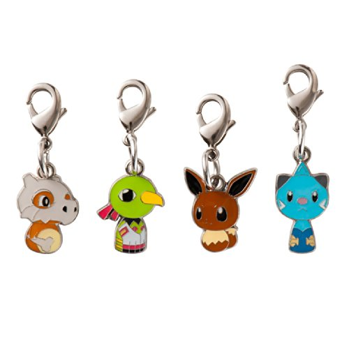 Pokemon Center Original Kokeshi Metal Charm Set Eevee
