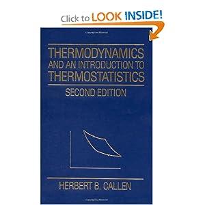 Thermodynamics Callen Ebook