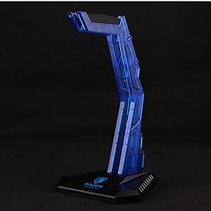 Gaming Headphone Cradle,Sades S-xlyz Acrylic Headset Bracket Stand Holder,Suitable for AKG/Sony/Shure/Sennheiser/Monster Beats/Ultimate Ears/Boss/Logitech/Professional/Gaming Headset,Blue
