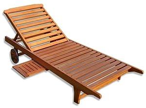 kmh gartenliege aus massivem eukalyptusholz 101018. Black Bedroom Furniture Sets. Home Design Ideas