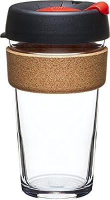 KeepCup Brew Glass Reusable Coffee Cup, 8 oz, Slate