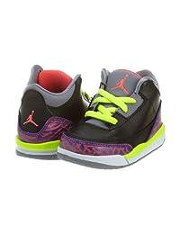 Nike Jordan 3 Retro (TD) 832033-039 Black/Atomic Red/Cement Grey/Volt Toddler