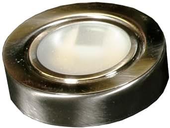 American Lighting 044-12-BS Under Cabinet Puck Lighting Kit, 20-Watt Xenon Lamp, Brushed Steel