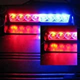 Amzdeal® 8-led Emergency Strobe Light Lamp Bar White / Red Warning Caution Van Truck for Law Enforcement Use Strobe Lights
