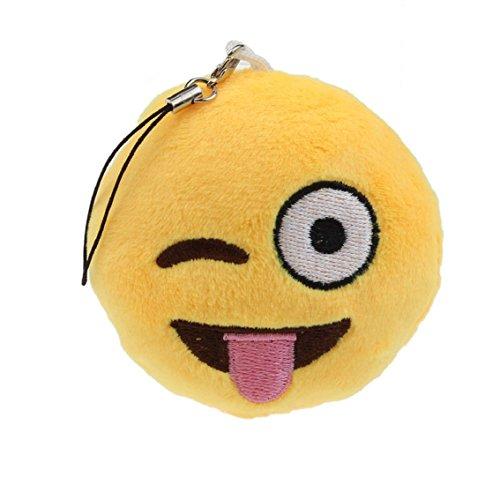 Bocideal Emoji Emoticon Schlüsselanhänger Soft Toy Gift Anhänger Tasche Zubehör (Smiley Emoticon Naughty)