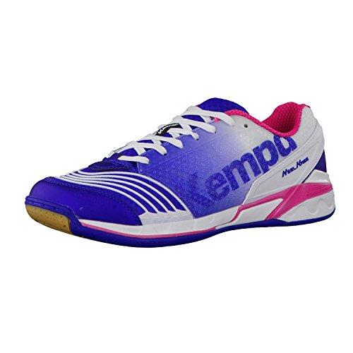 Kempa Attack One, Scarpe da pallamano donna, Donna, elektric blau/weiß/pink, 44.5 EU