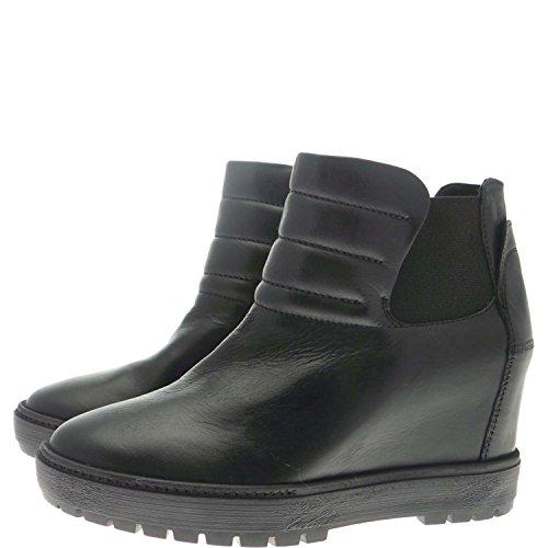 Janet Sport 34884 Sneakers Donna 100% Pelle Nero Nero 38