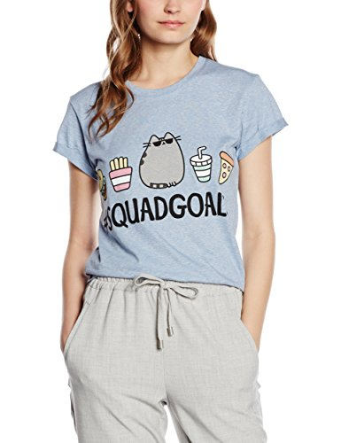 Plastic Head Pusheen Squad Goals Grst, T-Shirt Donna, Blu, 40