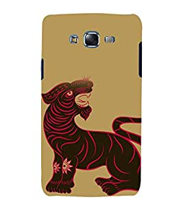 printtech South Asian Lion Design Back Case Cover for Samsung Galaxy Core 2 G355H