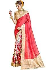 E-VASTRAM Womens Printed Saree(BHFLOWER_MultiColour)