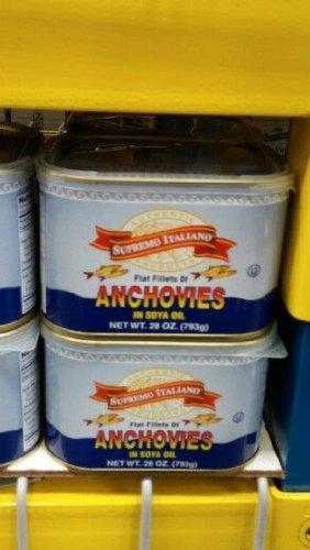 Supremo Italiano: Anchovies In Soy Oil 28 Oz. (12 Pack Case)