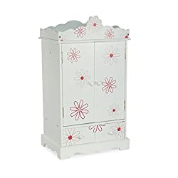 Large 18 Inch Doll Armoire | Storage Furniture Fits 18