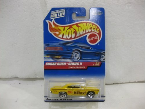 sugar-rush-series-ii-1-of-4-oh-henry-70-roadrunner-in-yellow-diecast-164-scale-collector-969-by-hot-