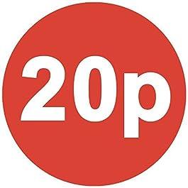 Audioprint Lot de 500Autocollants 20P Prix 30mm rouge