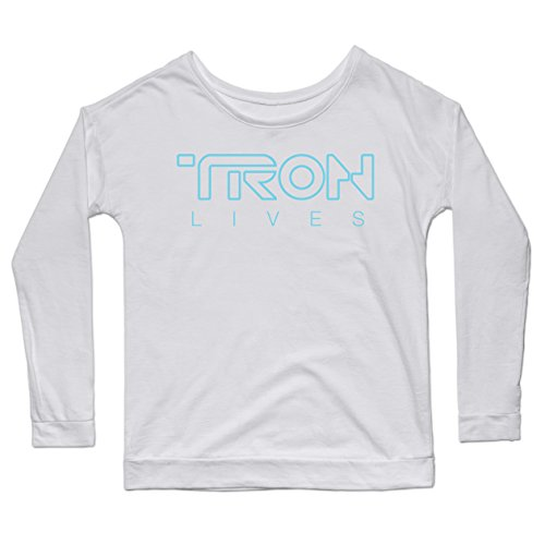 Tron Lives - Teepublic Female Small Scoop Neck Triblend (Extra Soft)
