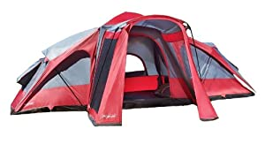 Lightspeed 3 Room 8 Person 17.5 X 15 Compound Tent, Red Gray by Lightspeed Outdoors