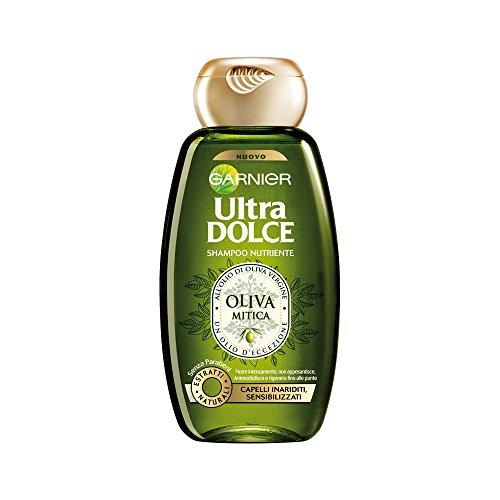 Garnier Ultra Dolce Oliva Mitica Shampoo Nutriente per Capelli Inariditi Sensibilizzati, 250 ml