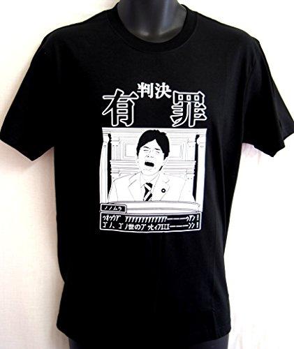野々村 Tシャツ 逆転有罪で号泣 バージョン (M, 黒)