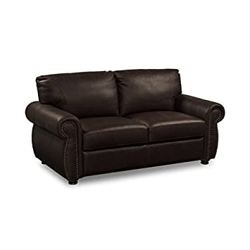 Lifestyle Solutions Bellavista Leather Loveseat in Vintage Cognac
